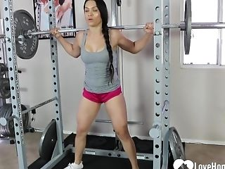 She Likes To Showcase Off Her Forms While Working Out, So Love Watching Her