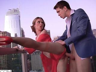 Youthful Tart Anya Olsen Treats Her Man Well - Outdoor Lovemaking On The Balcony