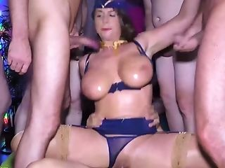 Big-chested Stewardess Mummy Rough Group Banged