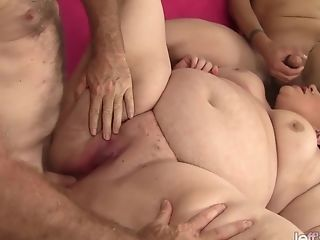 Bbw Bella Bendz Is Butt-fucked By Two Guys
