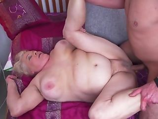 Grandmas Hairy Labia Gets A Youthful Guest