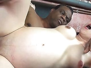 Preggo Teenagers First-ever Big Black Cock Interracial Romp