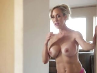 A Sexy Blonde Is Getting Her Muff Ate By A Hot Black-haired