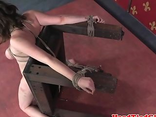 Leaned Over Servant Gets Restrained