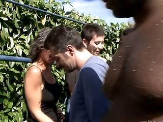 A Few Horny Dudes Fuck Zaza La Coquine And Her Gfs By The Poolside