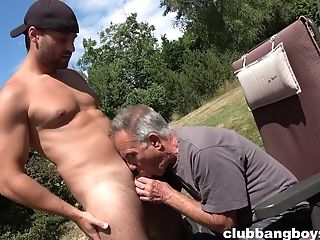 Old Queer Man Deepthroats Youthful Nepher's Dick