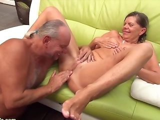Sexy Skinny German Pigtailgranny Gets Rough Doggystyle Big Trouser Snake Fucked By Her Hubby