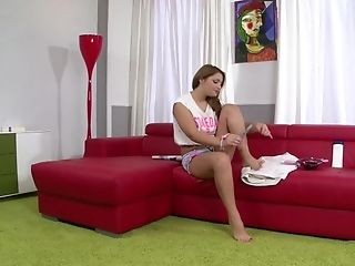 Excellent Scenes Of Foot Worship Porno On The Casting Couch