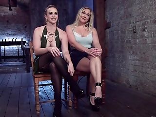 Blonde Sweetie Angel Allwood Gets Her Cunt Disciplined By A Mistress