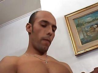 Bisex dudes chest jizzed