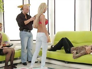 Bald Man Talks Three Sweet Dolls Into Pleasing His Lengthy Dong