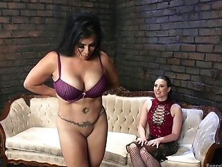 Adorable Casey Calvert Uses A Belt Dick To Fuck Her Lesbo Friend
