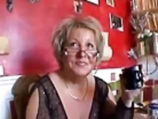 Hot Smoothly-shaven Chubby Granny In Stockings Fucking With Two Guys