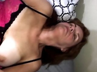 Mom Janet Desperate For Pecker In Her Grey Pubes