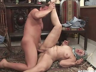 Matures Granny With Glasses Licks Culo And Rails Schlong