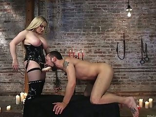 Masculine Abasement Flick Starring Bodacious Huge-chested Mistress Aiden Starr