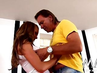 Lil' German Teenage Does Her Old Landlord