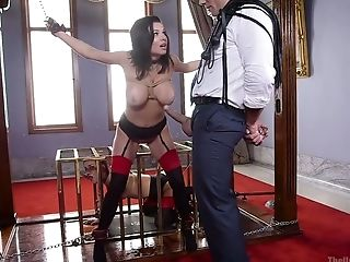 Tied Up Big-titted Hooker Veronica Avluv Luvs Xxx Double Penetration Fist Insertion