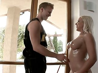 Voluptuous Beauty Bibi Fox Tempts Youthful Dude And Rails His Meaty Pole