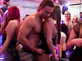 Masculine Strippers Feed Pipe To Lusty Soiree Beotches