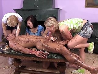 Food Kink Switch Roles Blowbang With Horny School Fucksluts