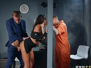Inmate Observes How His Wifey Gets Fucked By The Lawyer