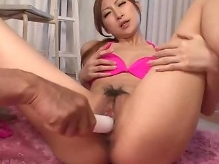 Reira Aisaki Places Big Playthings In Her Creamy Loves Fuck Holes