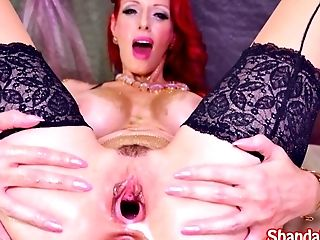 Deviant Cougar Shanda Fay Gaps Labia With Fuck Stick!