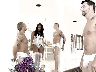 Interracial Bang-out And A Group Sex Is The Dearest Thing Of Amber Starlet