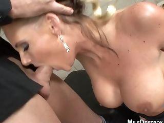 Huge-titted Cougar Loves Big Jizz-shotgun