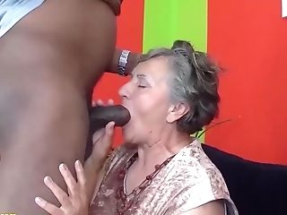 My Chubby Hairy Thicket Grandmother Luvs Her First-ever Big Black Meatpipe Interracial Porno Lesson