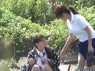 Japanese Students Urinating Outdoors