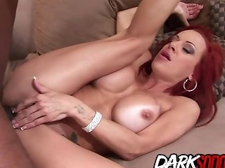 Big Black Cock Makes Chesty Ginger-haired Mummy Shannon Kelly Put Her Tits And Culo To Work