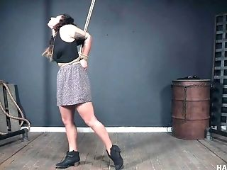 Minnow Monroe Squirts While Getting Her Twat Manhandled All Tied Up