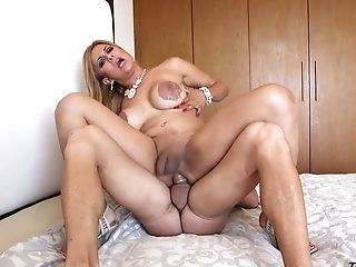 Big Tittied Tranny Naomi Chi Takes A Big Penis In Her Opened Up Ass Fucking Fuckhole