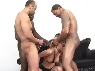Linda Ray Four Hard-ons In Arse And Mouth
