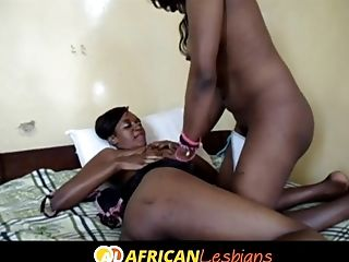 Purple Hair South African Girly-girl Fucked With Fake Penis