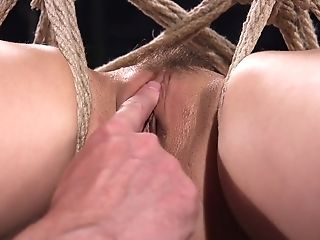 Almost Titless Whore Kristina Rose Gets Tied Up And Suspended In A Weird Pose