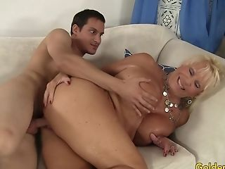 Buxomy Granny Mandi Mcgraw Delectations Youthful Paramour With Mouth And Muff