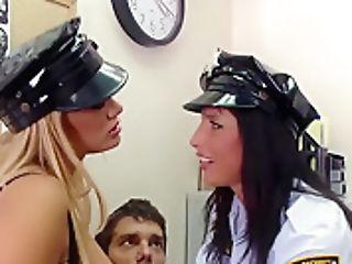 Big Tits In Uniform - Lezley Zen Shyla Stylez Ramon - Security Cocksluts - Brazzers