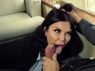Jasmine Jae Bj's A Thick Penis On His Private Jet