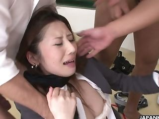 Japanese Chick Rei Haruka Is Fucked By A Few Perverse Dudes
