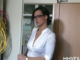 Sexy Office Biotch Sina Velvet Can't Fight Back A Man With A Nice Dick