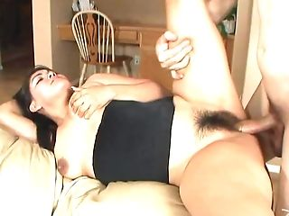 Big Tit Black-haired Needs Her Shaggy Tunnel Of Pleasure Smashed