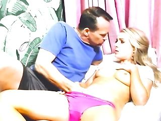 Teenage Blonde Needs To Be Collective By These Two Lustful Blokes
