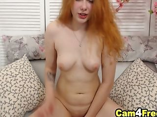 Hot Red-haired Chick Will Sizzle Up Your Day As She Masturbates
