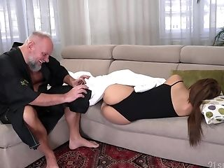 Student Tenant Sarah Nice Gets Intimate With Old Landlord