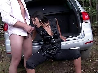Sexy Tera Joy Lets The Boy Piss All Over Her Deep In The Forest