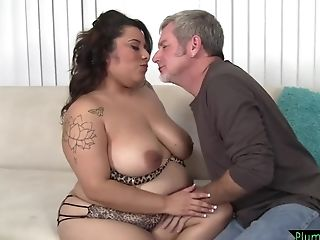 Tattooed Bbw Beauty Stripped And Drilled