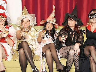 Its A Steaming Old And Youthful Lezzie Halloween Soiree